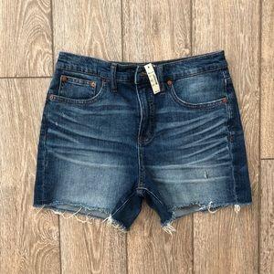 NWT madewell High-Rise Denim Shorts